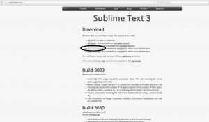 Выбор версии Sublime Text 3 (Сублайм текст 3)